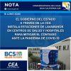 GOB DE BCS INSTALA ESTACIONES DE LAVAMANOS EN CENTROS DE SALUD Y HOSPITALES